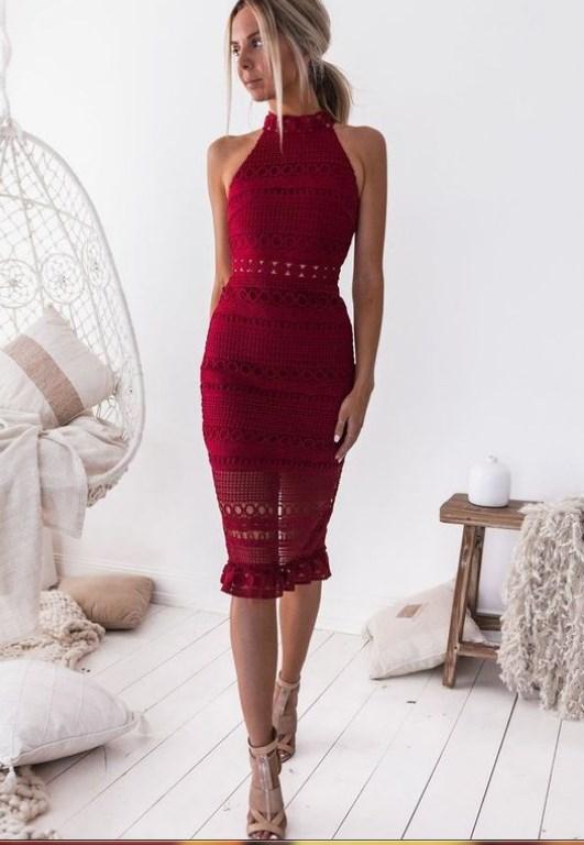 kırmızı balo elbise modelleri 2019