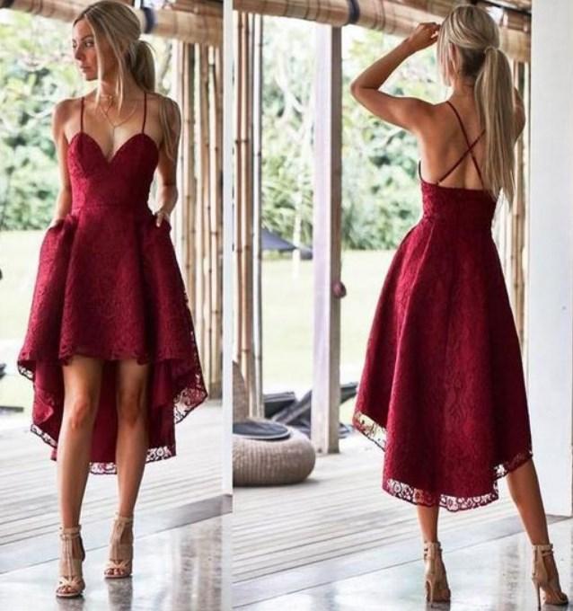 kırmızı balo elbisesi modelleri 2019
