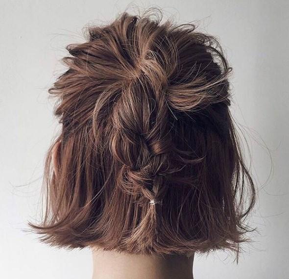 örgülü bob saç modelleri 2019