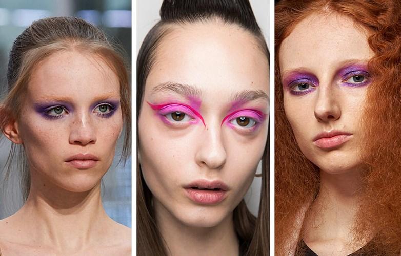 pembe ve mor göz makyajı 2020