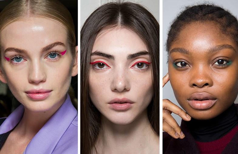 renkli göz makyajı trendleri 2019 2020