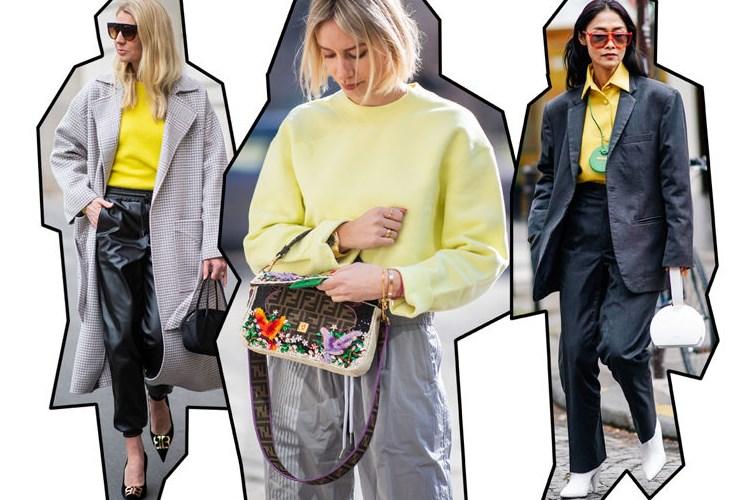 sarı ve gri kıyafet fikirleri 2019 2020