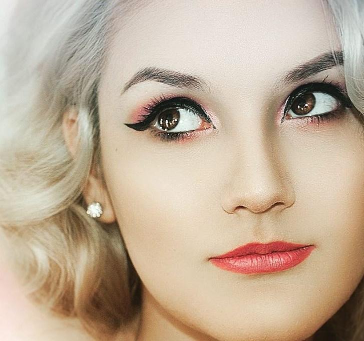 Летний макияж для блондинок 2019
