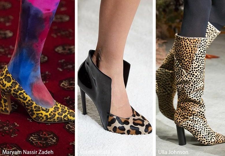 sonbahar kış 2020 leopar desenli ayakkabı ve bot modelleri