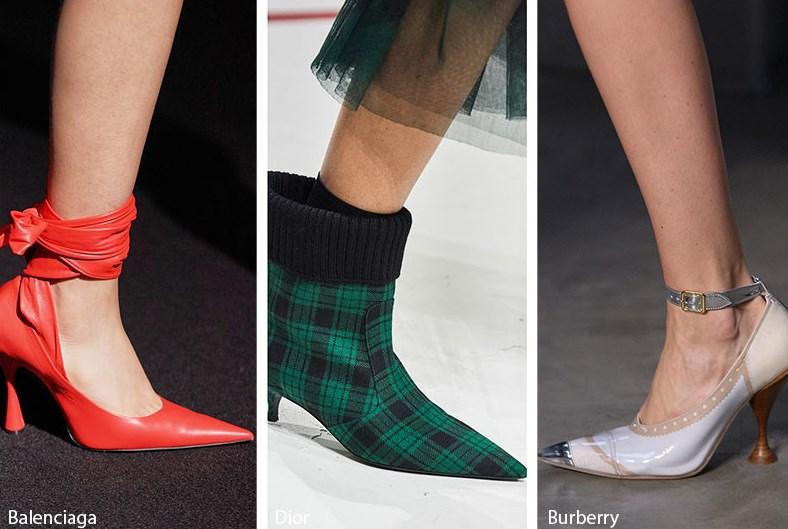 sonbahar kış keskin sivri burun ayakkabı modelleri 2020