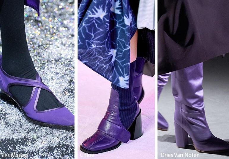 sonbahar kış mor ayakkabı bot ve çizme 2020