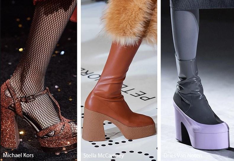 sonbahar kış platform topuk ayakkabı modelleri 2020