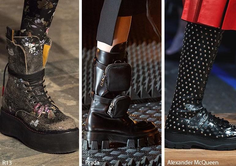 Sonbahar Kış Punk Platform topuk Ayakkabı Modelleri 2020