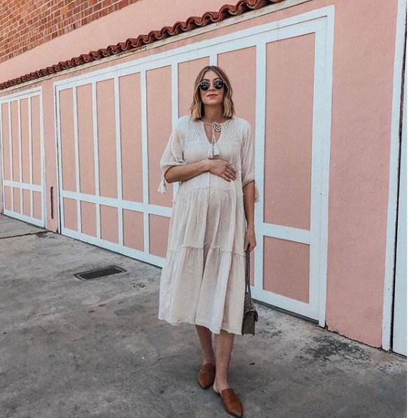 yazlık hamile elbiseleri ve kombinler 2019 2020