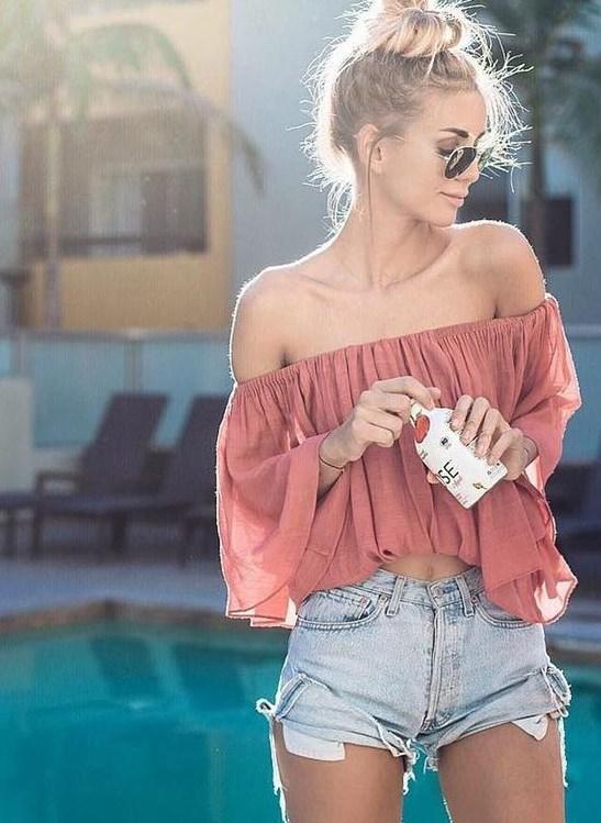 yazlık omuz açık bluzlar 2019