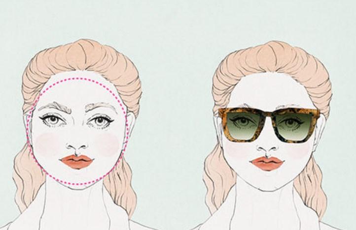 Yuvarlak yüz şekillerine uyan güneş gözlükleri