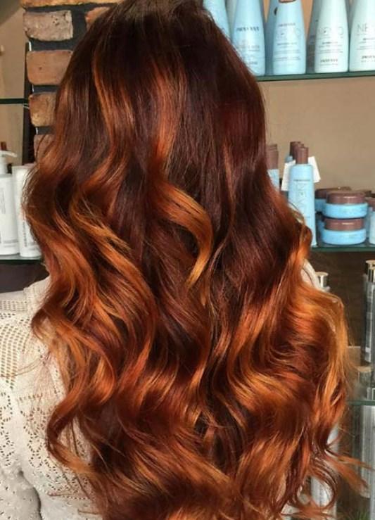 bakır gölgeli saç renkleri ve modelleri 2019 2020