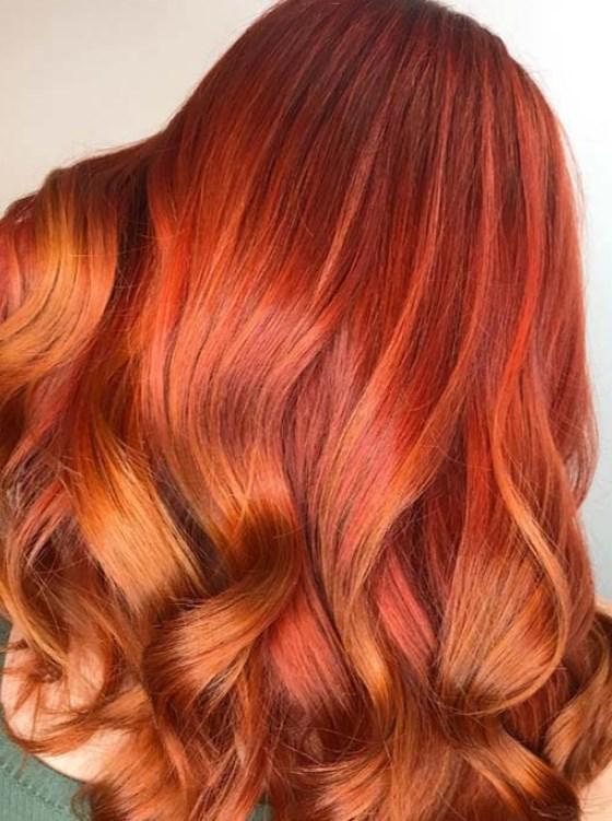 bakır kırmızı saç renkleri ve modelleri 2020