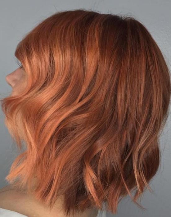 Bakır Şeftali Saç Rengi