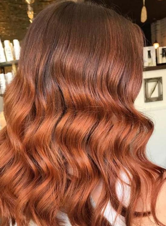 Çikolatalı Karamel bakır saç renkleri 2019 2020