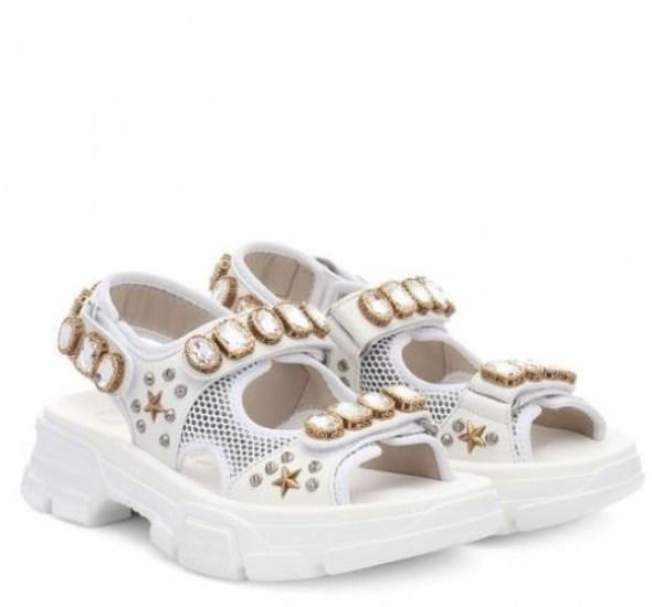 Gucci taşlı sandalet modeli 2020