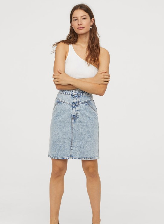 HM Summer Jeans Rock Modelle 2019 bis 2020
