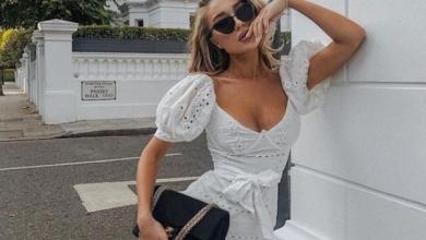 kısa beyaz yazlık elbise modeli 2019 2020
