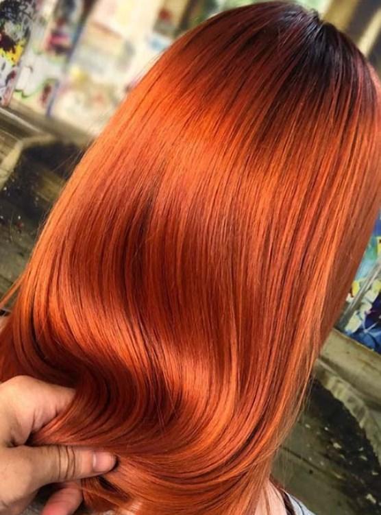 Neon Bakır Saç Renkleri 2019