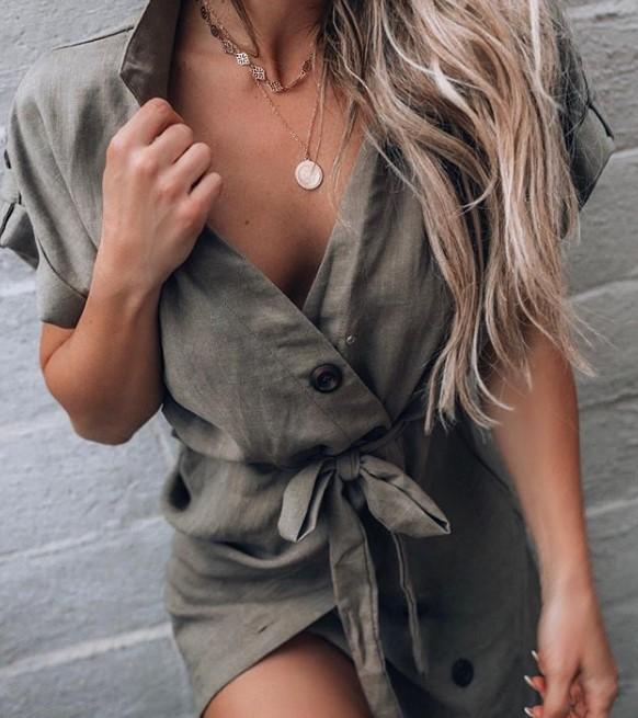 önden düğmeli elbise 2019 2020