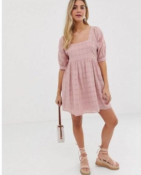 pudra pembe yazlık büstiyer elbise
