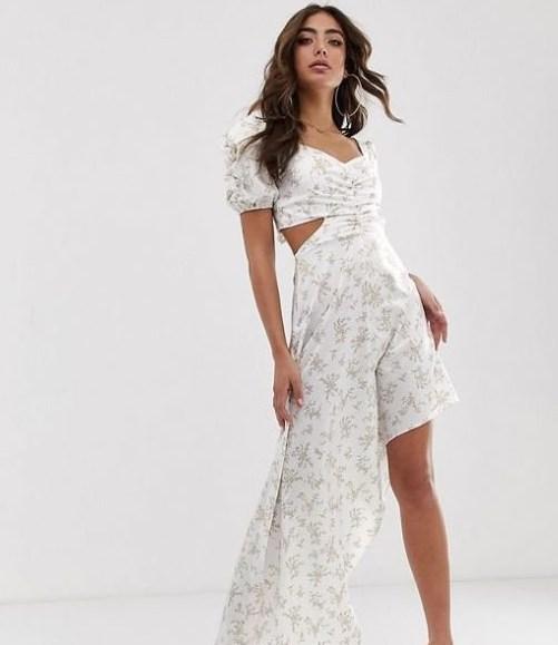 puf kollu uzun büstiyer elbise modeli