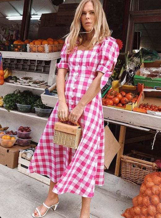 puf kollu yazlık elbiseler 2020