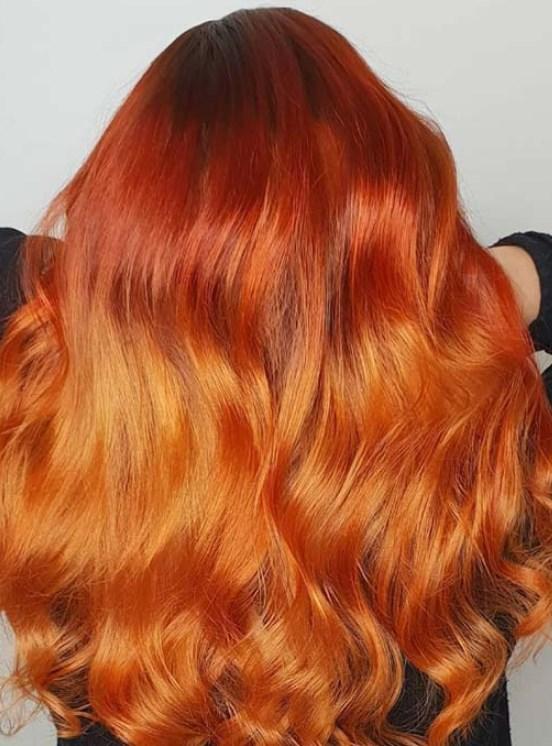 turuncu bakır saç renkleri