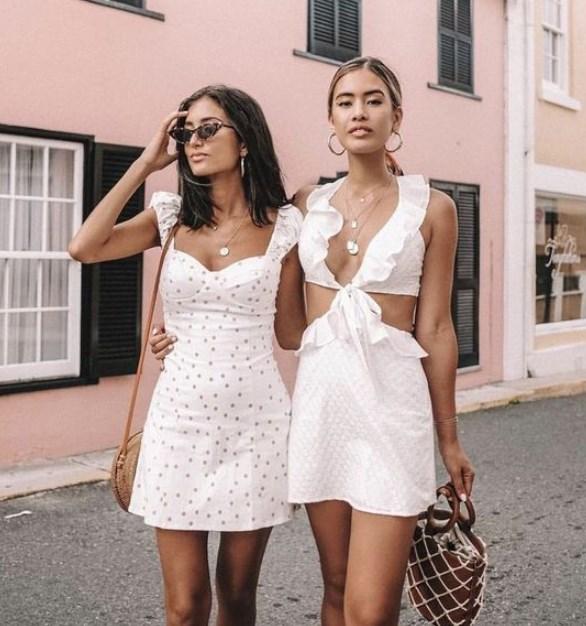 8cc8ea17c9a19 Kısa beyaz elbise modelleri 2019 2020 - Trendler ve Moda