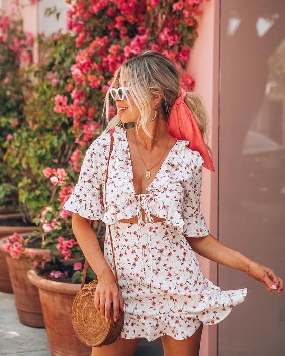 yazlık kısa elbise modelleri 2019 20 (2)