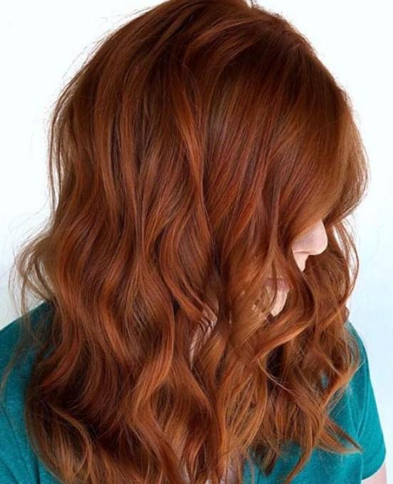 yumuşak bakır saç rengi