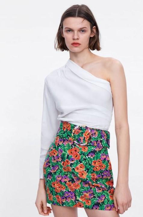 zara asimetrik yazlık bluz modeli 2020
