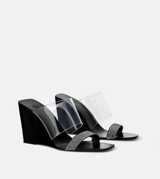 zara dolgu topuk taşlı sandalet modeli 20