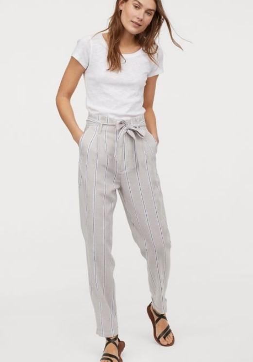 2019 Yaz HM Keten Pantolon Modelleri