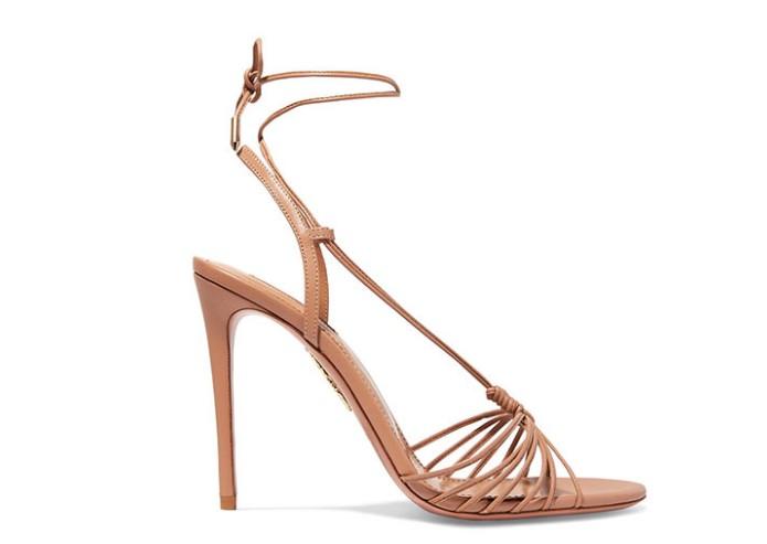 Askılı Düğümlü Topuklu Sandalet