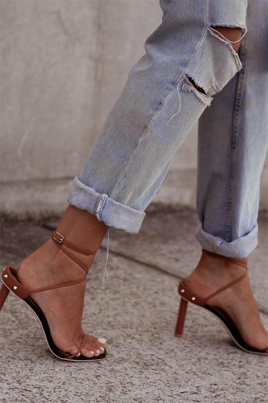 Günlük Kıyafetler İçin Yüksek Topuklu Sandaletler 2019 2020
