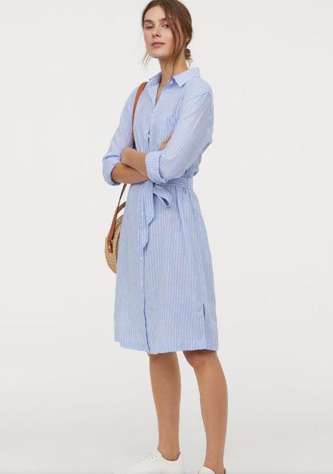 hm gömlek elbise modeli 2019