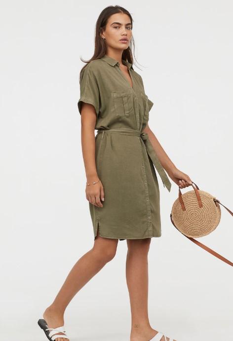 hm gömlek elbise modelleri 2019