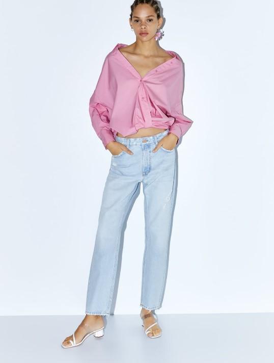 zara açık mavi kot pantolon modeli 2019 20