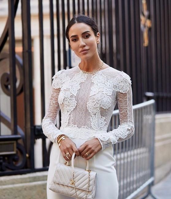 beyaz dantelli transparan bluz modeli