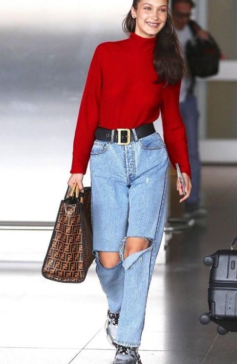 kış modası 2019 2020 mom jeanler ve kombinler