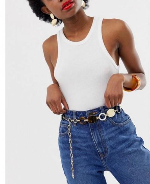 kot pantolon ile zincir kemer kombini