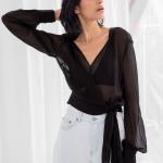 siyah transparan bluz modeli 2019 2020