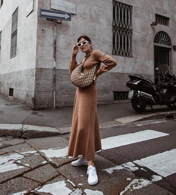 sonbahar 2019 2020 triko elbiseler