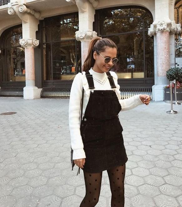 sonbahar kadife salopet elbise modeli 2019 2020
