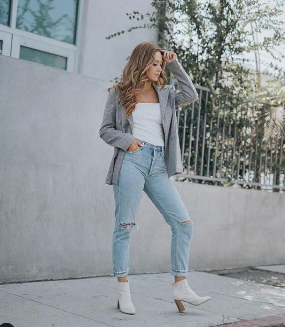 sonbahar mom jean pantolon kombinleri 2019 2020