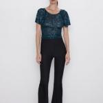 Zara Sonbahar pullu bluz modeli 2019 20