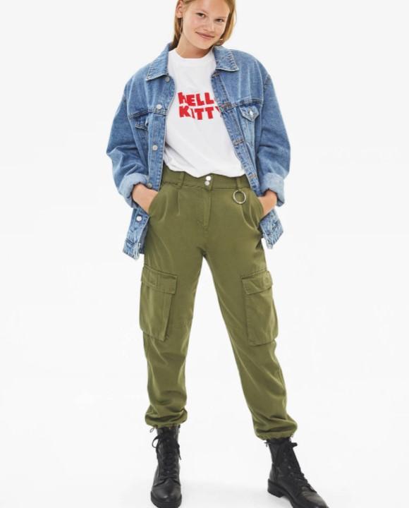 Bershka Sonbahar Kış kargo pantolon Modelleri 2019 2020