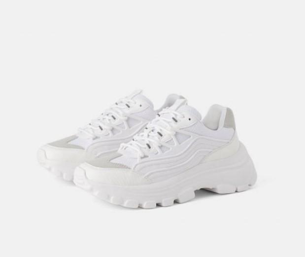 HM beyaz spor ayakkabı modelleri 2020