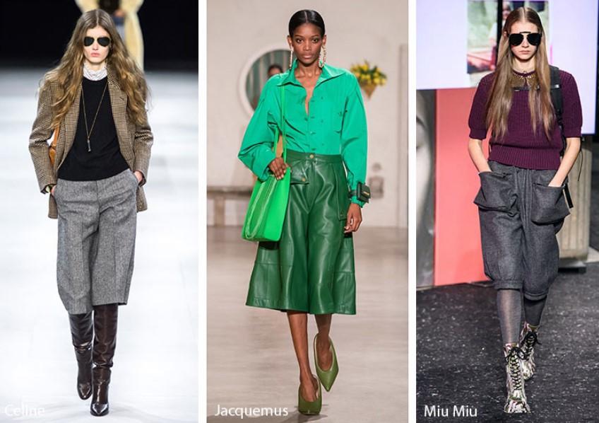 Sonbahar Kış 2019-2020 Culottes Moda Trendleri